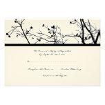 Arbre noir et blanc d'hiver épousant RSVP Faire-part Personnalisés