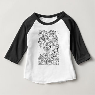 Arbre pluvieux de forêt fantastique t-shirt pour bébé