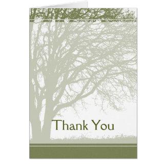 Arbre vert de Merci de la vie Cartes De Vœux