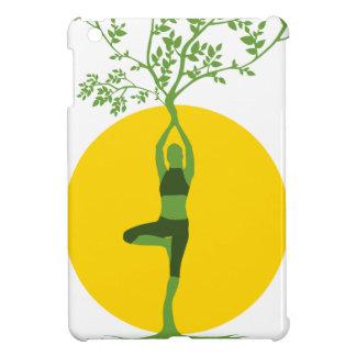 Arbre vert de yoga étuis iPad mini