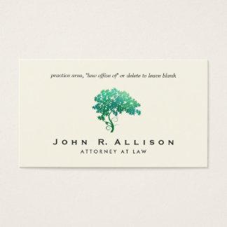 Arbre vert élégant d'avocat cartes de visite