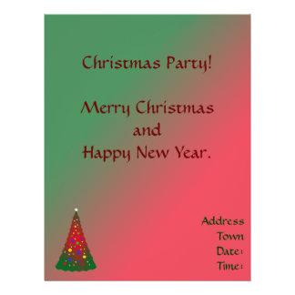 Arbre vert rouge de Joyeux Noël Prospectus 21,6 Cm X 24,94 Cm