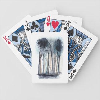 Arbres abstraits tranquilles jeu de cartes