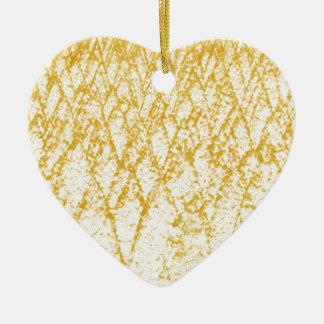 arbres bruns ornement cœur en céramique