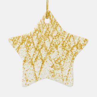 arbres bruns ornement étoile en céramique
