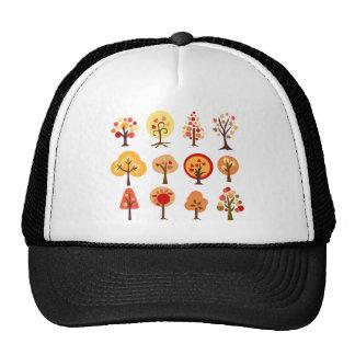 Arbres d'automne casquettes