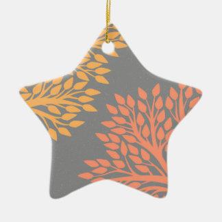 Arbres d'automne ornement étoile en céramique