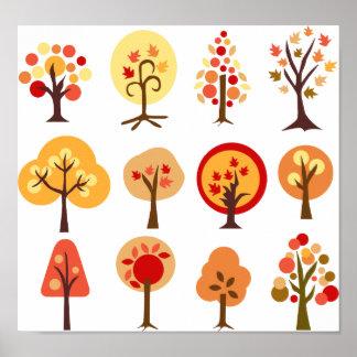 Arbres d'automne poster