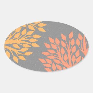 Arbres d'automne sticker ovale