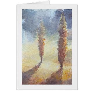 Arbres de Cypress Carte De Vœux