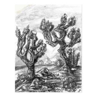 Arbres de Joshua surréalistes dans la carte d'art