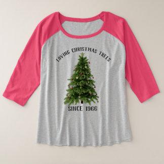 Arbres de Noël affectueux de chemise de fête de