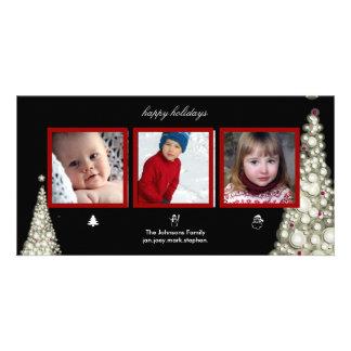 Arbres de Noël, bonhomme de neige et cartes photos