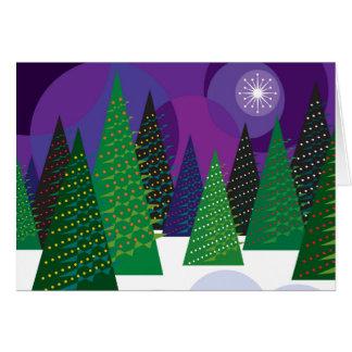 Arbres de Noël Carte De Vœux