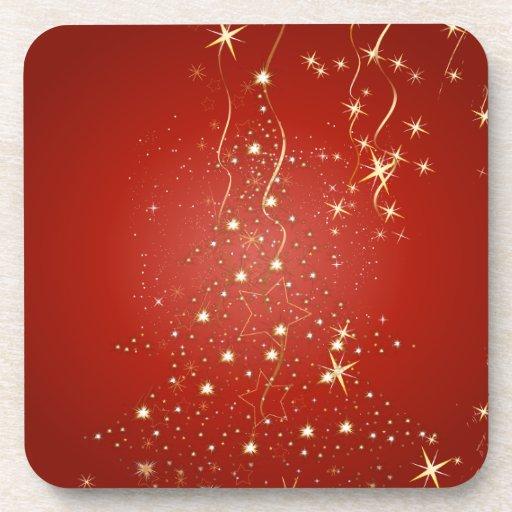 Arbres de Noël de scintillement de PixDezines Dessous-de-verre