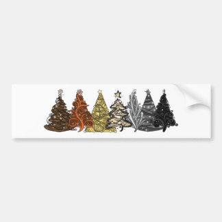 Arbres de Noël d'ours Autocollant De Voiture