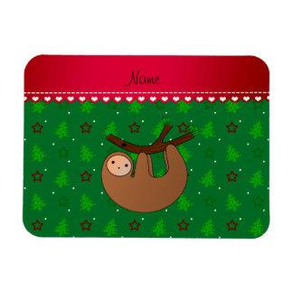Arbres de Noël nommés personnalisés de vert de Magnets En Rectangle