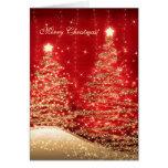 Arbres de scintillement élégants de cartes de Noël