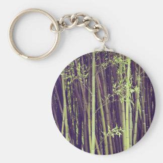 Arbres en bambou porte-clé rond