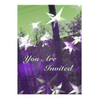 Arbres et abrégé sur étoiles carton d'invitation  12,7 cm x 17,78 cm