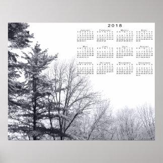 arbres Neige-couverts : Copie horizontale de 2018 Poster