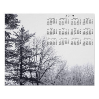 arbres Neige-couverts : Copie horizontale de 2018 Posters