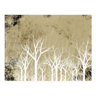 Arbres nus d'hiver cartes postales
