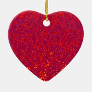 arbres rouges ornement cœur en céramique