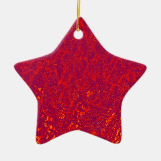arbres rouges ornement étoile en céramique