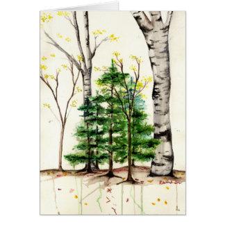 arbres toute la carte de voeux d'occasion