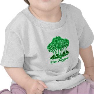 Arbres verts d'environnement de nature de Hugger d T-shirts