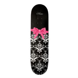 Arc blanc noir nommé fait sur commande de scintill skateboards personnalisables