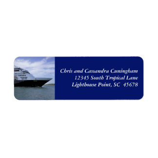 Arc de bateau de croisière de Slwwk personnalisé Étiquettes D'adresse Retour