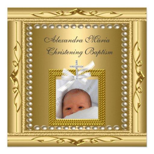 Arc de cadre de photo d'or de baptême de baptême bristol