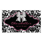 Arc de damassé de rose de carte de visite de bijou