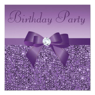 Arc de paillettes et anniversaire de diamant carton d'invitation  13,33 cm