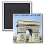 Arc de Triomphe, PARIS FRANCE Magnet Carré