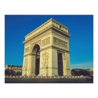 Arc de Triomphe, Paris, France Prospectus 21,6 Cm X 24,94 Cm