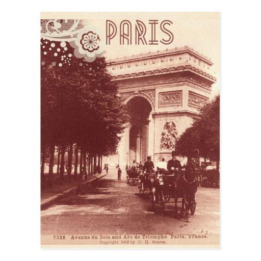 Arc de Triomphe vintage, Paris, 1903 Cartes Postales