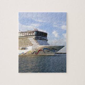 Arc décoré de bateau de croisière puzzle