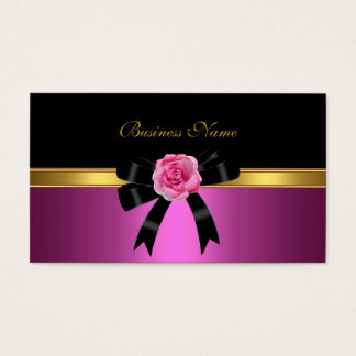 Arc élégant d'or de noir de rose de rose de carte