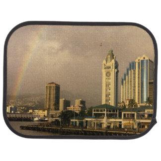 Arc-en-ciel au-dessus de Honolulu, Hawaï, Tapis De Voiture
