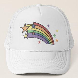 Arc-en-ciel avec des casquettes d'étoiles