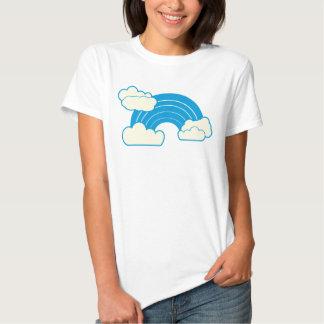 Arc-en-ciel bleu super avec la chemise de nuages t-shirts