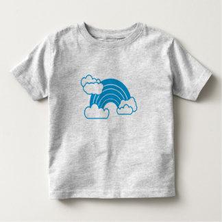 Arc-en-ciel bleu t-shirts