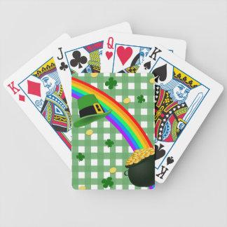 Arc-en-ciel chanceux cartes à jouer