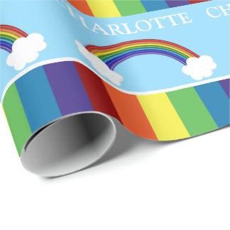 Arc-en-ciel coloré et nuages d'amusement papiers cadeaux noël
