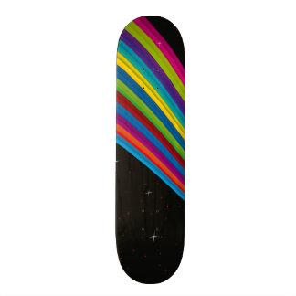 Arc-en-ciel dans l'obscurité skateboards customisés