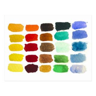 arc-en-ciel de couleurs carte postale