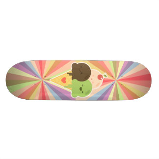 Arc-en-ciel de crème glacée de Kawaii Plateau De Skateboard